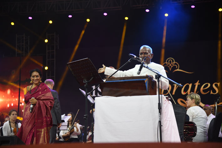 ilaiyaraaja june 2 2019 birthday function stage